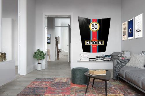 Capot Porsche Déco Martini