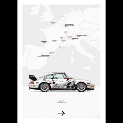 affiche Last Corner Porsche 993