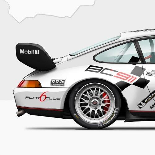 affiche Last Corner Porsche 993 vue arrière