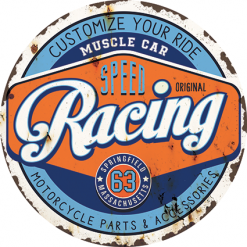 plaque métal speed racing