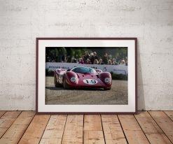 Cadre photo Ferrari 312P Raphaël Dauvergne