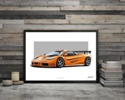 illustration Poster MC Laren F1 DBCarillustrations
