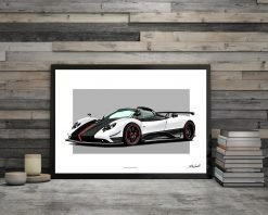 illustration Poster DBCarillustrations Zonda Cinque