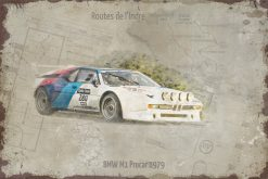Plaque métal vintage BMW M1 classic