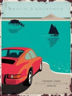 Plaque Vieilli Porsche Bassin Darcachon 247x329