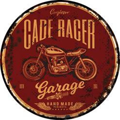 Plaque métal décoration garage custom racer