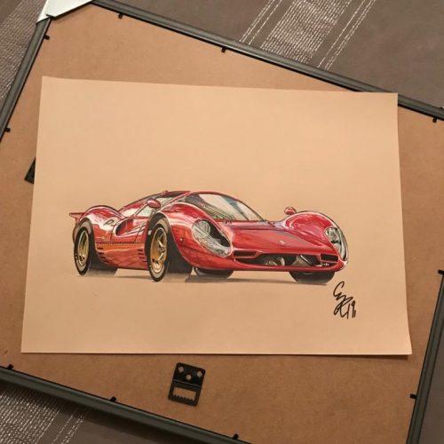 Illustrations Ferrari P4 Grégory Ronot